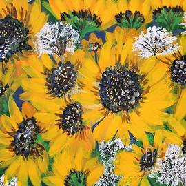 Sunflowers and Queen Ann Lace by Barbara Donovan