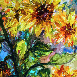 Sunflowers Summer Flowers Mixed Media by Ginette Callaway