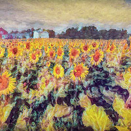 Sunflowers Surround The Farm by Jeff Folger