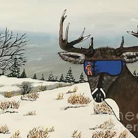 Buck With Sunglasses  by Jeffrey Koss