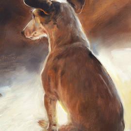 Sunlit Jack russell by Marjolein Kruijt