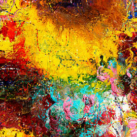 Sunny Abstract Garden by Natalie Holland