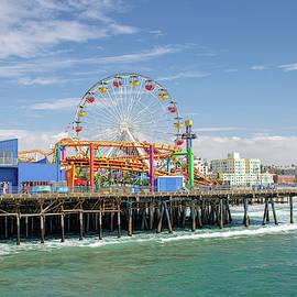 Sunny Day On The Santa Monica Pier by Kristia Adams