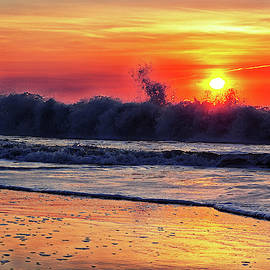 Sunrise At 142nd Street Beach Ocean City by Bill Swartwout Photography