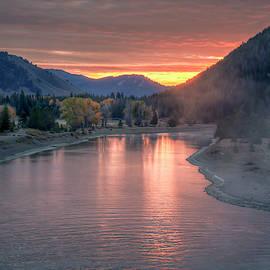 Sunrise at Jackson Dam 0913 by Kristina Rinell