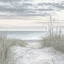 Sunrise at the Dunes Sketch by Debra and Dave Vanderlaan