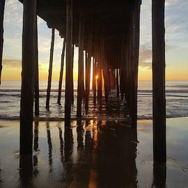 Sunrise At The Oc Fishing Pier by Robert Banach