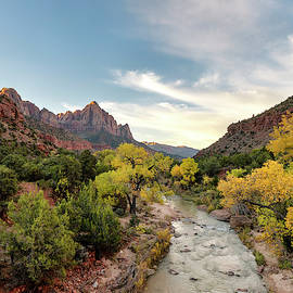 Sunrise At The Watchman 2 Vertical - Zion National Park - Utah by Brian Harig