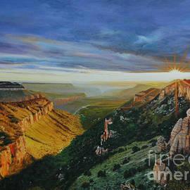Sunrise Grand Canyon by Michael Nowak