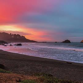 Sunrise in False Klamath Cove by Peter Tellone