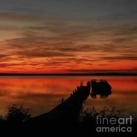 Sunrise on Paraside Lake by Rachelle Bluster