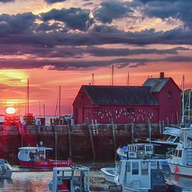 Sunrise On Rockport Harbor by Jeff Folger