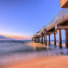Sunrise On The Four Seasons Pier by JC Findley