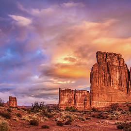 Sunrise On The Organ, Tower Of Babel And The Three Gossips by Brenda Jacobs