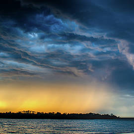 Sunrise Storm Pano by Jeff Phillippi