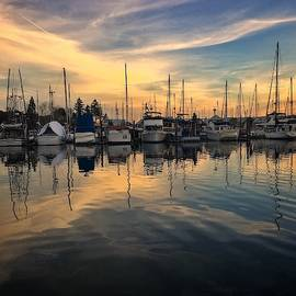 Sunrise Tranquility at the Marina by Jerry Abbott