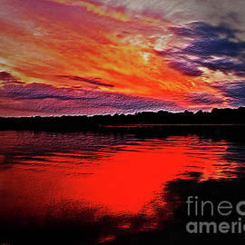 Sunset Abstract Wall Decor by Carol F Austin