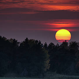 Sunset At An Hazy Evening by Torbjorn Swenelius