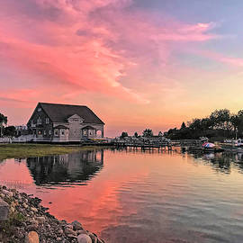 Sunset at Chicks Marina by Donna Kennedy