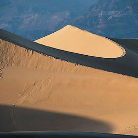 Sunset At Death Valley Sand Dunes by Jennifer Ancker