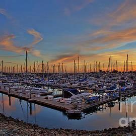 Sunset At Pier 32 Marina In National City, California by Sam Antonio Photography