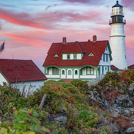 Sunset at Portland Head Light - Maine by Gregory Ballos