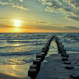Sunset at the Baltic Sea by Joachim G Pinkawa