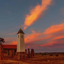 Sunset At The Chapel by Robert Caddy