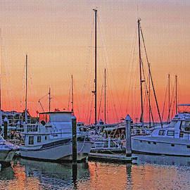 Sunset At Twin Dolphin Marina  by HH Photography of Florida