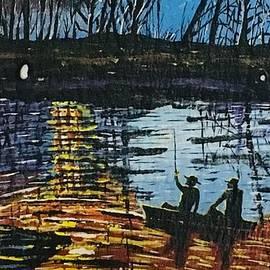 Sunset Bass Fishing  by Jeffrey Koss