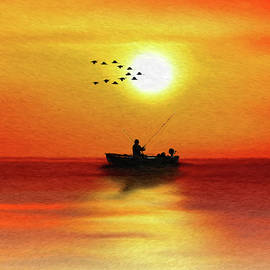 Sunset Fishing - DWP1503333 by Dean Wittle