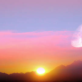 Sunset In Africa PhotoArt by Johanna Hurmerinta