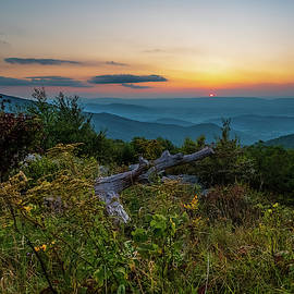 Sunset in Shenandoah National Park from Timber Hollow Overlook 8x10 by William Dickman
