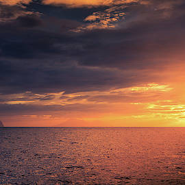 Sunset in the Tyrrhenian Sea by Alexey Stiop