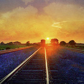 Sunset Kansas Train