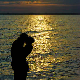 Sunset Lovers Silhouette by Brian Wallace