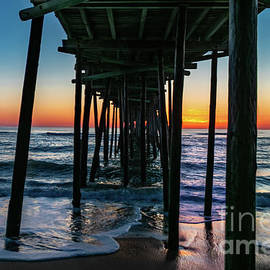 Sunset Nags Head Pier by Norma Brandsberg