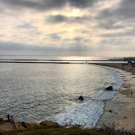 Sunset Of Corona Del Mar  by Brian Eberly