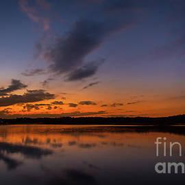 Sunset on Lake Lanier by Bernd Laeschke