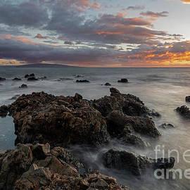 Sunset over Kahoolawe by Mike Dawson