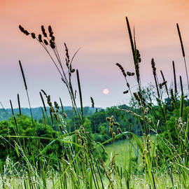 Sunset over Kentucky countryside by Alexey Stiop