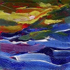 Sunset Over Lake Kesar by Alida M Haslett
