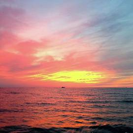 Sunset over Lake Michigan by Ann Brown