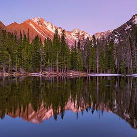 Sunset Over Longs Peak by Darren White