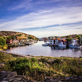 Sunset over old fishing port by Nicklas Gustafsson