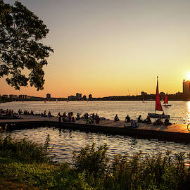 Sunset Over The Esplanade - Boston, Ma. by Joann Vitali