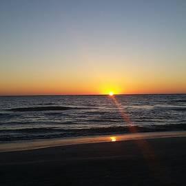 Sunset over the Gulf by Josefina Henselin