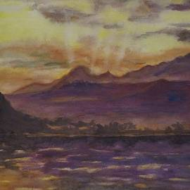 Sunset Over the Outiniquas by Leah Saban