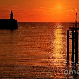 Sunset Over The Sea by Martyn Arnold