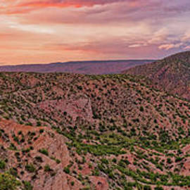 Sunset Panorama Of Santa Cruz Lake - Cundiyo Chimayo New Mexico Land Of Enchantment by Silvio Ligutti